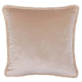 Paoletti Freya Blush Velvet Cushion