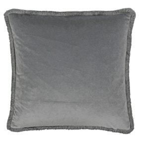 Paoletti Freya Silver Velvet Cushion