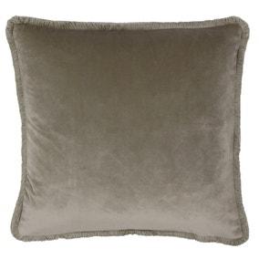 Paoletti Freya Velvet Taupe Cushion