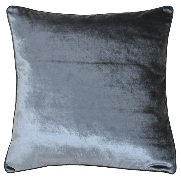 Paoletti Luxe Velvet Anthracite Cushion Grey