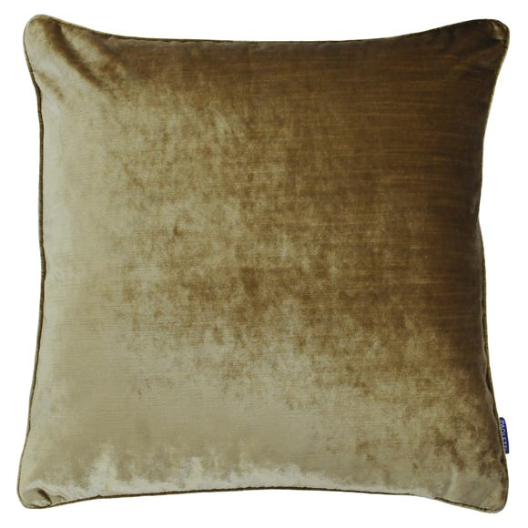 Paoletti Luxe Velvet Gold Cushion Gold