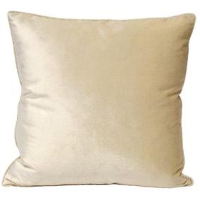 Paoletti Luxe Velvet Ivory Cushion