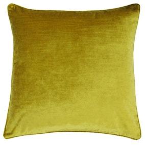 Paoletti Luxe Velvet Ochre Cushion