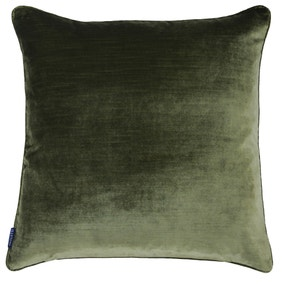 Paoletti Luxe Velvet Olive Cushion