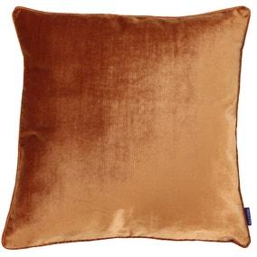 Paoletti Luxe Velvet Rust Cushion