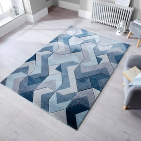 Hand Carved Aurora Geometric Rug