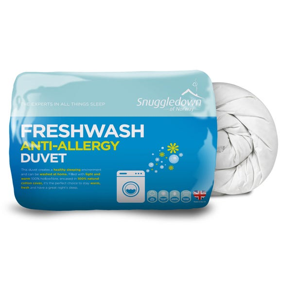 Snuggledown Fresh Wash Anti Allergy 4.5 Tog Duvet White undefined