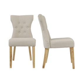 Limoges 2 Dining Chairs Linen