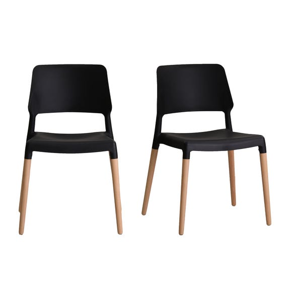Reims Set of 2 Dining Chairs Black