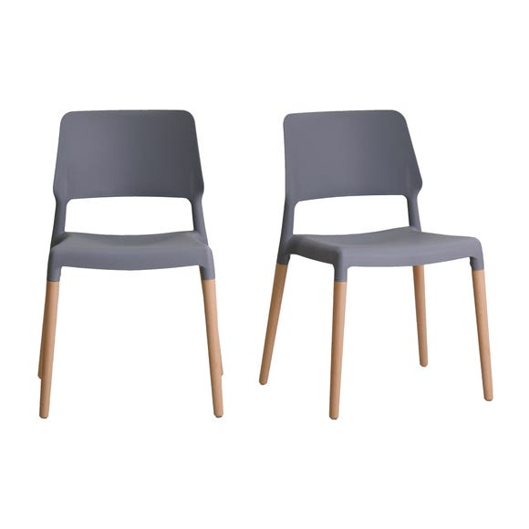 Reims Set of 2 Dining Chairs Grey