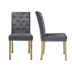Avola Set of 2 Dining Chairs Velvet