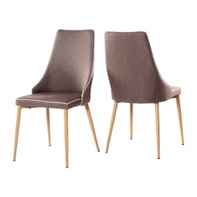 Flynn Set of 2 Dining Chairs Fabric