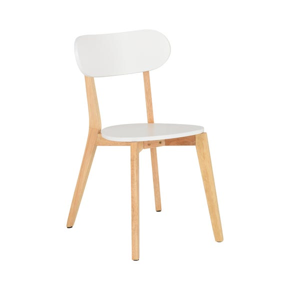 Julius Set of 2 Dining Chairs White