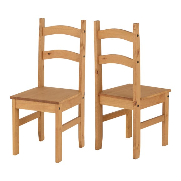 Corona Set of 2 Dining Chairs Brown