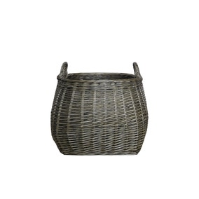 Grey Willow Belly Basket