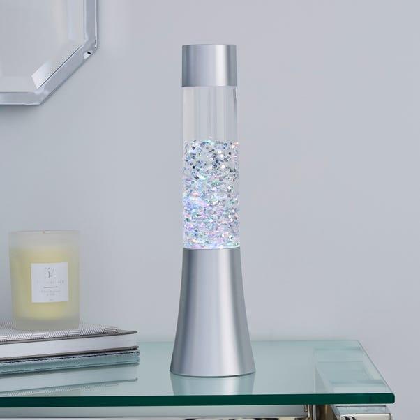 Silver Glitter Lamp Silver