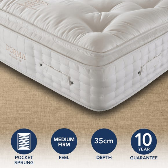 Dorma Sandringham 5000 Pocket Sprung Mattress White undefined