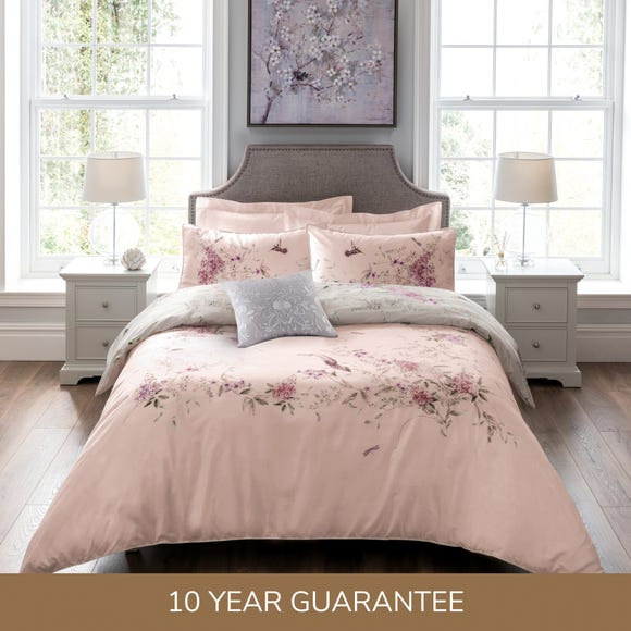 Dorma Emalia Blush 100% Cotton Reversible Duvet Cover Blush (Pink) undefined