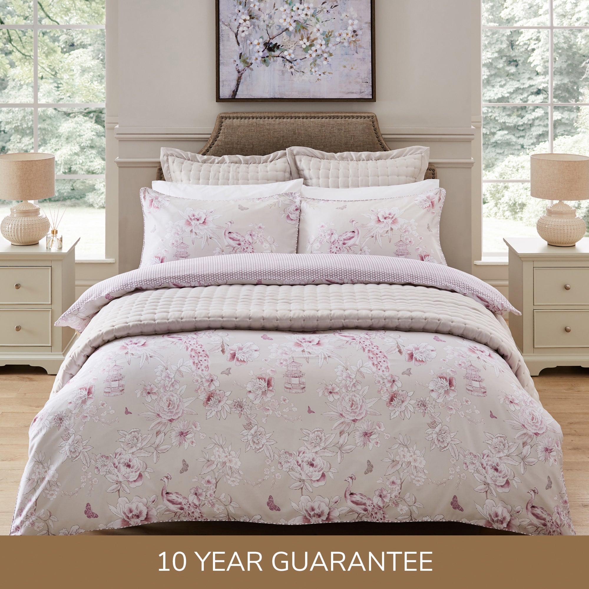 80 00 For Dorma Edina 100 Cotton Duvet Cover And Pillowcase Set Heather Pink Deal Direct Co Uk
