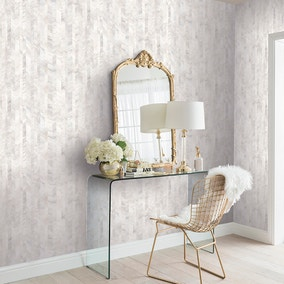 Mother of Pearl White Wallpaper