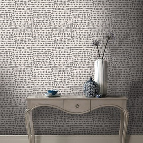 Tribal Charcoal Wallpaper