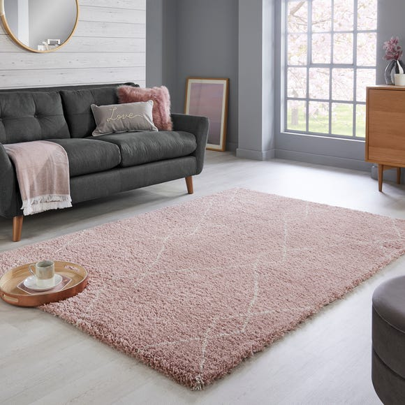 Accra Berber Rug Accra Pink and Cream undefined