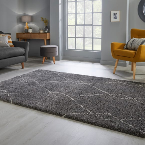 Accra Berber Rug Accra Charcoal and White undefined