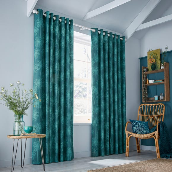 Clarissa Hulse Dill Blue Eyelet Curtains  undefined