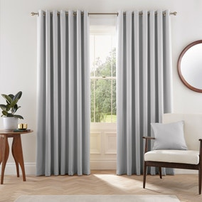 Helena Springfield Eden Silver Eyelet Curtains