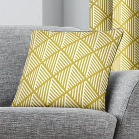 Brooklyn Ochre Geometric Cushion