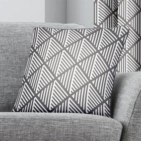 Brooklyn Grey Geometric Cushion