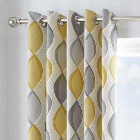 Lennox Ochre Eyelet Curtains
