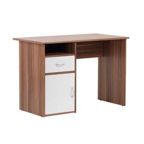 Hastings Desk - Walnut & White