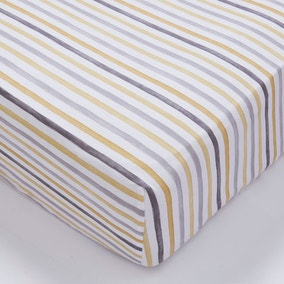 Ashbourne Striped 28cm Fitted Sheet