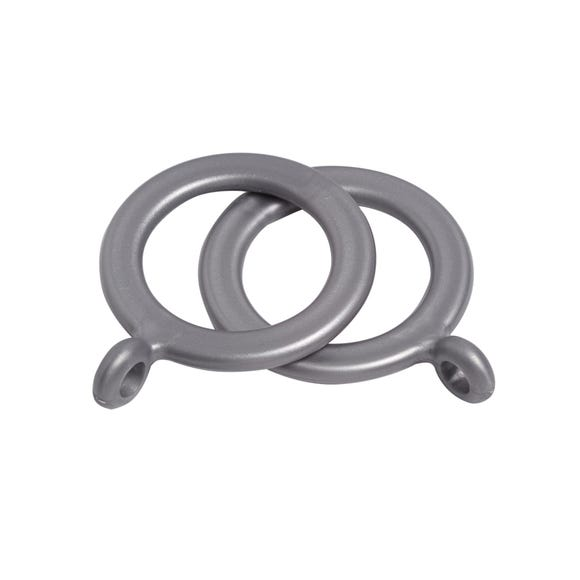 Vienna Pack of 10 Silver Curtain Rings Dia. 19mm Silver