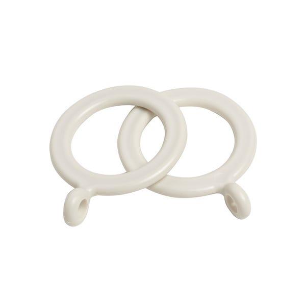 Vienna Pack of 10 Cream Curtain Rings Dia. 19mm Cream