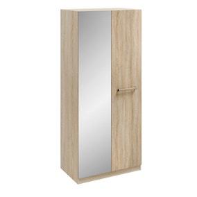 Hampton 2 Door Mirrored Wardrobe