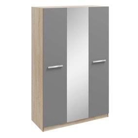 Genoa 3 Door Mirrored Wardrobe