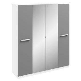 Moritz 4 Door Mirrored Wardrobe