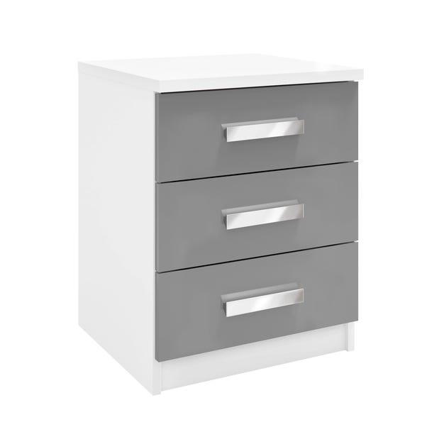 Moritz 3 Drawer Bedside White