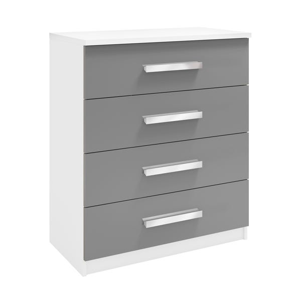 Moritz 4 Drawer Chest White
