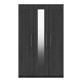 Ethan Graphite 3 Door Wardrobe