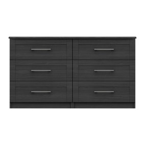 Ethan Graphite 3 Drawer Double Chest