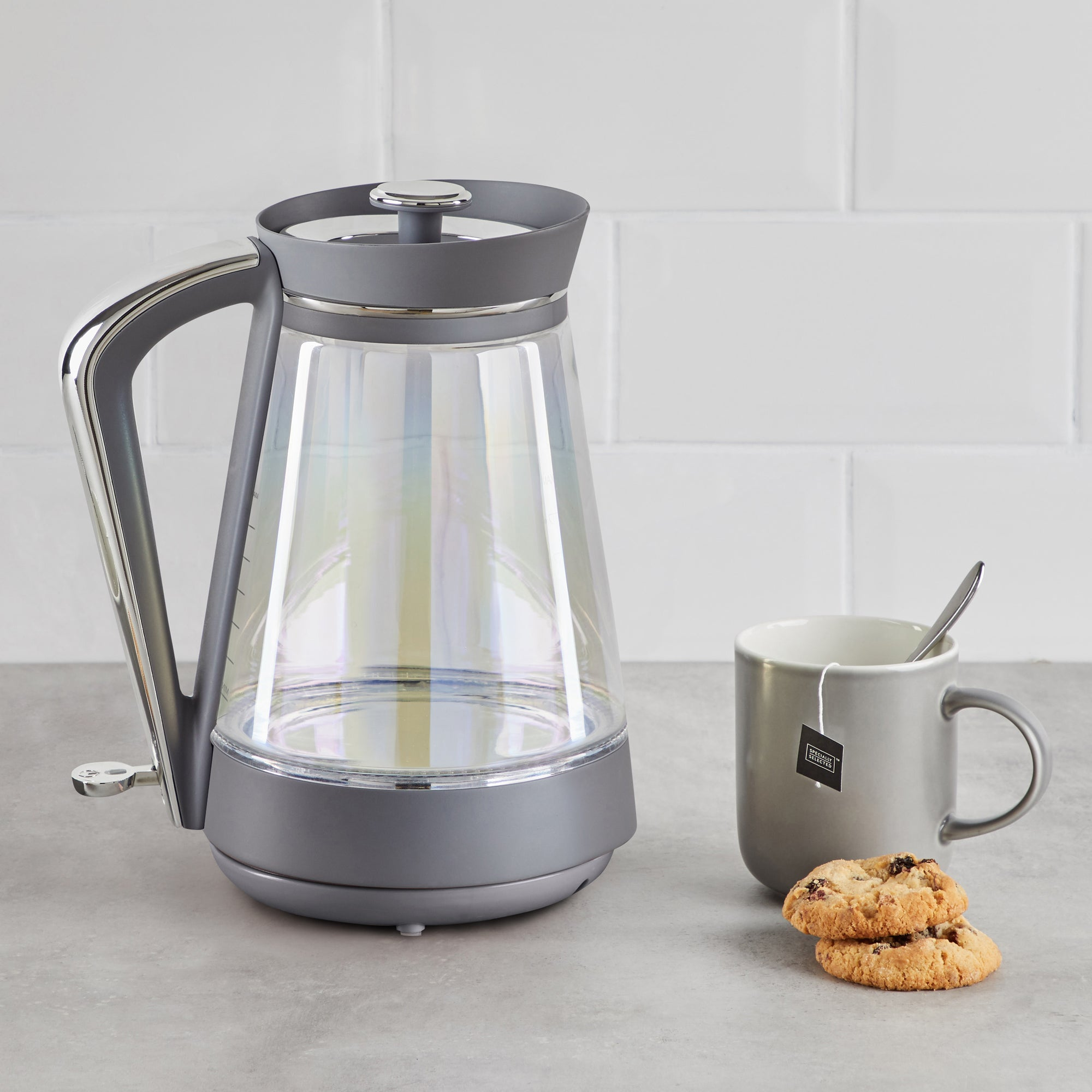 Click to view product details and reviews for Lustre Effect 17l 3kw Glass Jug Kettle Grey.