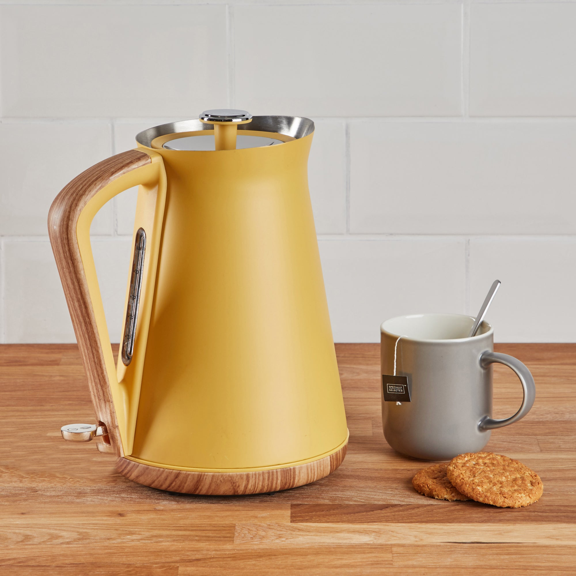 Click to view product details and reviews for Contemporary 17l 3kw Ochre Jug Kettle Yellow Brown And Silver.