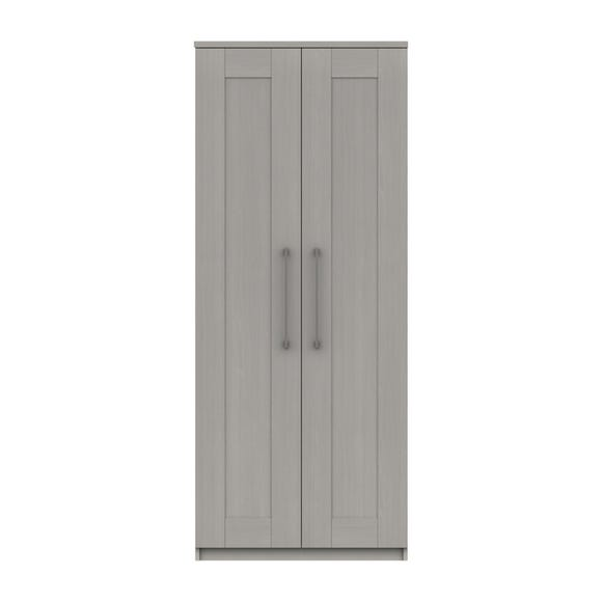 Ethan Light Grey 2 Door Wardrobe