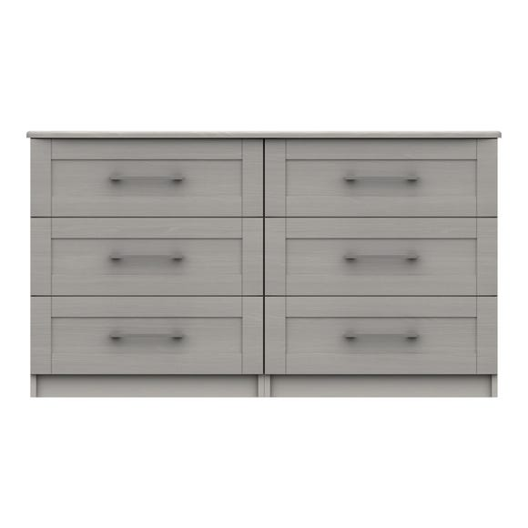 Ethan Light Grey 3 Drawer Double Chest