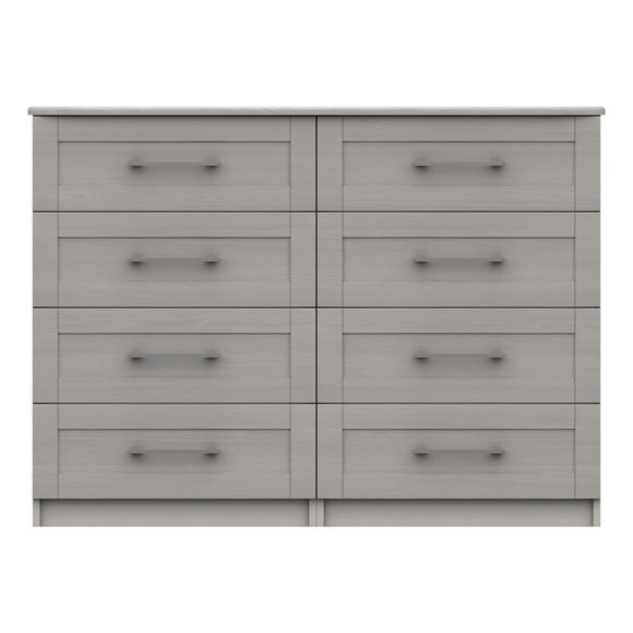 Ethan Light Grey 4 Drawer Double Chest