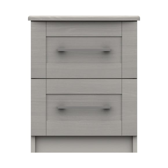Ethan Light Grey 2 Drawer Bedside