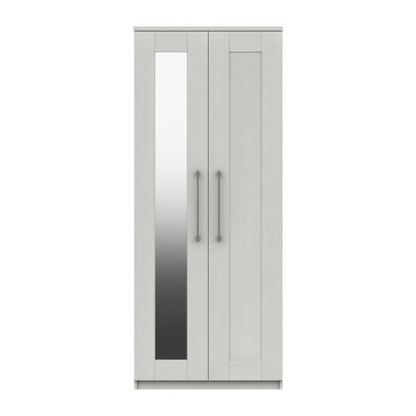Ethan White 2 Door Wardrobe with Mirror